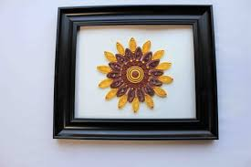 sunflower wall decor paper quilling art mandala wall decor