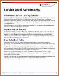 Real Estate Joint Venture Agreement Template by 6 Internal Service Level Agreement Template Purchase Agreement