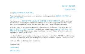 resignation letter retirement template bizorb