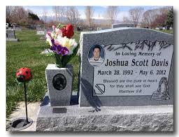 headstone pictures joshua davis headstone