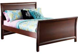 ivy league cherry 3 pc full sleigh bed beds dark wood