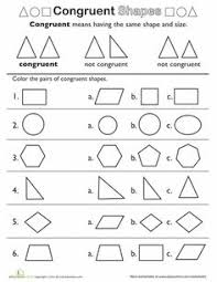 Similar And Congruent Figures Worksheet 3rd Grade Math Worksheets 2 Pairs Of Shapes Worksheets