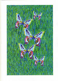 p k of 8 a6 butterfly letter card notelets byself rep artist free