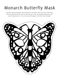 7 best images of butterfly mask printable coloring pages
