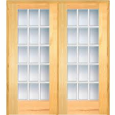 mmi door 61 5 in x 81 75 in classic clear glass full lite 62 in x 81 75 in classic clear beveled 15 lite unfinished pine