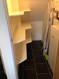 under stairs cupboard shelves home organisation house stuff