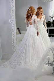 Long Sleeve Wedding Dresses A Line Wedding Dress With Long Sleeves Naf Dresses