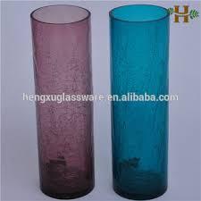 Purple Vases Cheap Crackled Cylinder Vases Handmade Colored Crackle Cylinder Glass