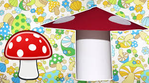 learn how to make paper mushroom easy diy craft tutorial kids