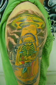 half sleeve colorful alien and ufo tattoo tattoos book
