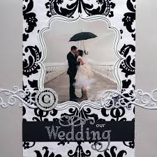 Wedding Scrapbook Page Mr U0026 Mrs Our Wedding Scrapbook Living Artfully