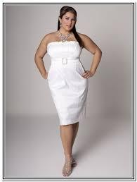 Short White Wedding Dresses Short White Wedding Dress Plus Size Clothing For Large Ladies