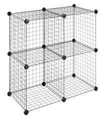 amazon cloud storage black friday amazon com whitmor storage cubes s 4 black wire closet shelves