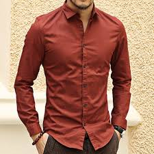 buy french cuff button men dress shirts new spring luxury slim fit