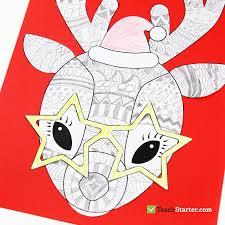 funky reindeer christmas craft u2013 teach starter