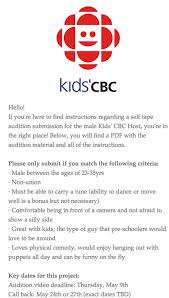 Tv Host Resume Agency Withdraws Casting Call For Cbc Show That Specified U0027any