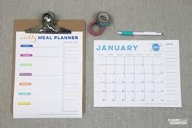 printable menu planner pages free printable meal planner
