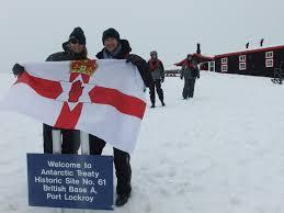 Antarctic Flag Northern Ireland Flag Port Lockroy Goudier Island British Base