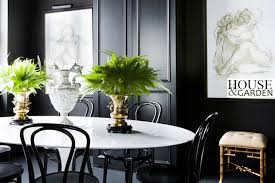 Black Bentwood Chairs Contemporary Kitchen Brendan Wong Design - Black and white dining table with chairs