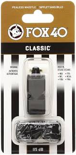 amazon com fox 40 classic official whistle with break away