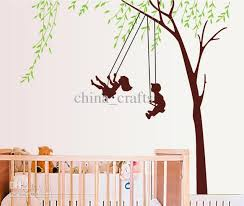 Removable Nursery Wall Decals Removable Room Wall Decor On The Swings Wall Stickers