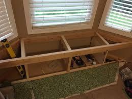 built in window seat diy built in window seat with drawer and cabinet storage hometalk
