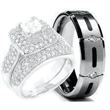 his and hers bridal his hers wedding rings blushingblonde