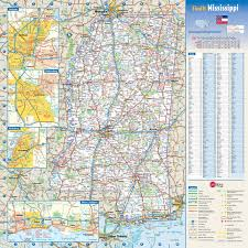 Mexico Road Map by Large Detailed Roads And Highways Map Of Mississippi State With