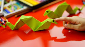 Origami Snake - how to fold an origami snake for hub