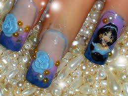 disney princess jasmine 3d acrylic nail art design youtube