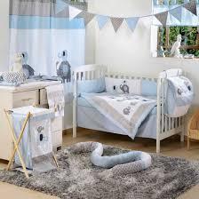 Elephant Crib Bedding Set Blue Elephant Crib Collection 4 Pc Crib Bedding Set Superb Blue