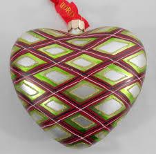 waterford holiday heirloom plaid heart ornament nib christmas