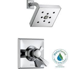 delta dryden 1 handle h2okinetic shower only faucet trim kit in