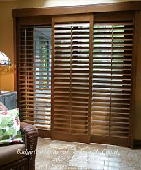 bypass shutters are a great option for a patio door covering and