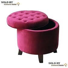 Fancy Ottomans Fancy Ottoman Purple Purple Velvet Ottoman Footstool Traditional