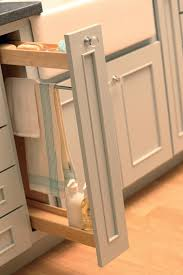 Narrow Pull Out Spice Rack Pull Out Tower Bar Offers A Place To Hang A Damp Towel Kitchen