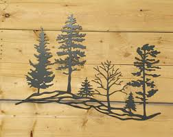 wooden pine tree wall wall décor etsy ca
