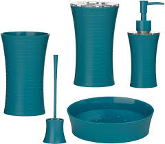 turquoise bathroom accessories modern interior design inspiration