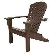 Tall Outdoor Chairs Ivy Terrace Classics Mahogany Shell Back Plastic Patio Adirondack