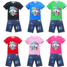 2017 pj masks boys girls cartoon kids u0027 shirt jeans cool casual