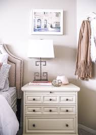 second bedroom with havenly and pier 1 visions of vogue the perfectly decorated nightstand