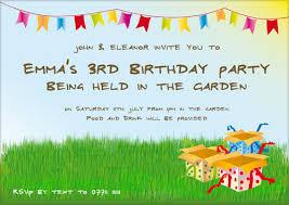 sample birthday invitation cards for kids addnow info