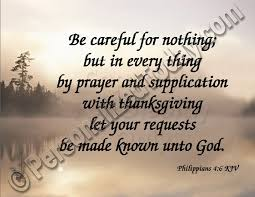 thanksgiving biblical quotes philippians 4 6 king james version kjv be careful for nothing