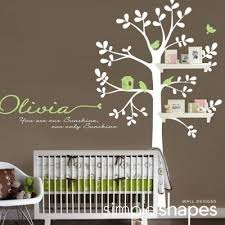 Nursery Decor Wall Stickers Baby Nursery Decor Brown Background Wall Decals Baby Nursery