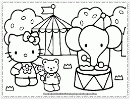 hello kitty face coloring pages kids coloring