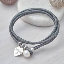 pearl clasp bracelet images Personalised sterling silver and leather pearl clasp bracelet jpg