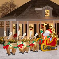 christmas inflatables outdoor cheap outdoor santa claus christmas