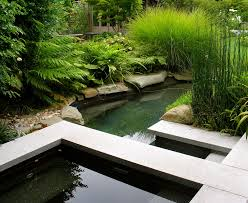 exterior design backyard pond pictures with outdoor chaise lounge