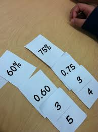 fraction decimal and percent go fish teaching in room 6