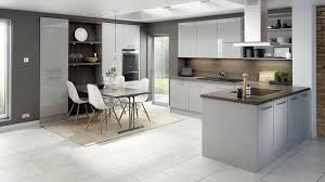 Stylish Kitchen Cabinets Gloss Kitchen In Gloss Light Grey Kitchen This Simple But Stylish